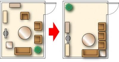 一人暮らし 部屋 狭い 広く見せる 配置